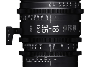 Rent: Sigma 18-35mm T2 Cine High-Speed Zoom Lens (ND'S INCLUDED)