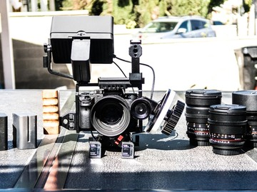 Rent: Sony a7S II kit with 6 lens rokinon prime set and smallhd