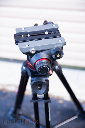 Manfrotto MVH502A Fluid Video Head and Tripod