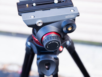 Rent: Manfrotto MVH502A Fluid Video Head and Tripod