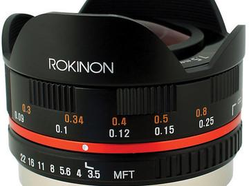 Rent: Rokinon 7.5mm F3.5 Fisheye MicroFourThirds Lens