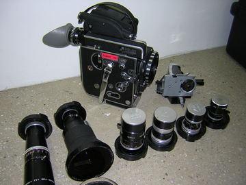 Rent: Bolex SBM  Super 16mm 6 Prime Lens camera package