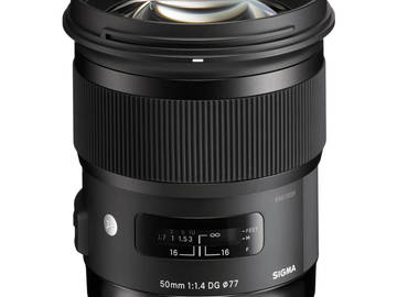 Rent: Sigma 50mm 1.4 Art for CANON