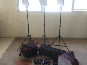 Rent: A Set of (3) Three Aputure Amaran HR672S