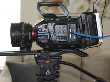 Rent: Blackmagic URSA Mini Pro + Cinema Lenses + Sound + Tripod