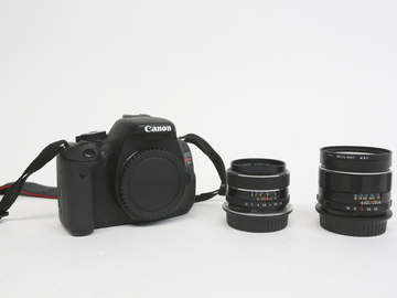 Rent:  Canon t3i with vintage primes