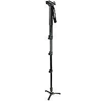 Manfrotto Monopod - 3 legs and Fluid Pan Base