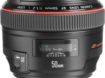 Rent: Canon 50mm f/1.2L USM Lens