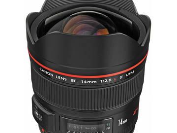 Rent: Canon EF 14mm f/2.8L II USM Lens