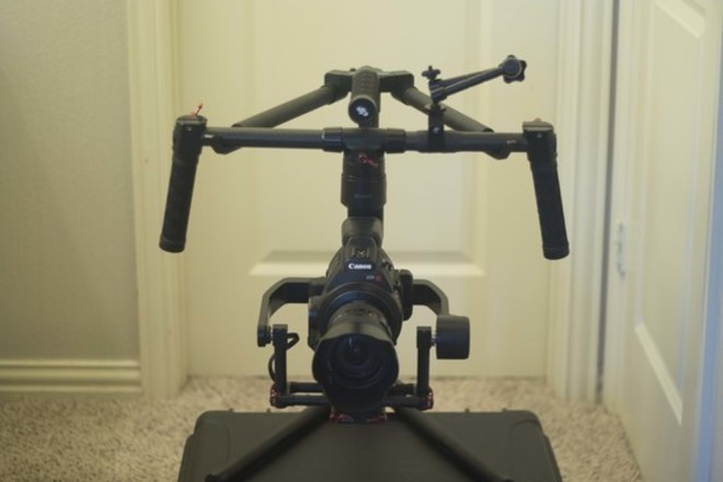 DJI Ronin-M, hard case, 2 Batt, DJI extension, FF rods