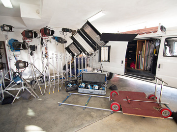 Rent: Grip Van W/ Dana Dolly, Kinos, 1.2 HMI + more. Best Value!