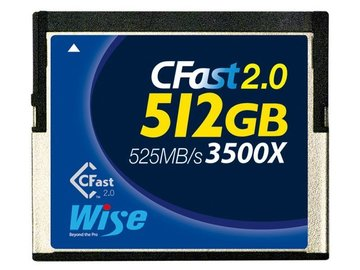 Rent: CFAST 2.0 - Wise 512GB (Canon C300 M2, C200, Blackmagic)