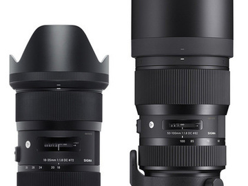Rent: EF Mount Sigma Art zoom lens package