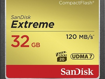 Rent: SanDisk Extreme 32 GB CF Card