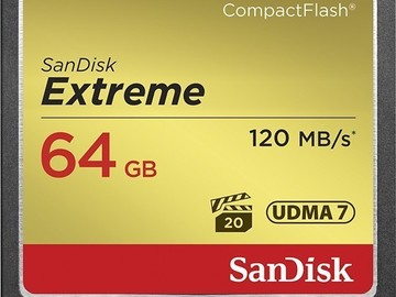 Rent: SanDisk Extreme 64 GB CF Card