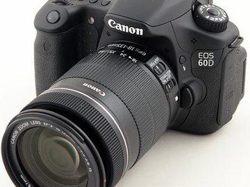 Rent: Canon EOS 60D/ Lens 18mm-135/ Accessories