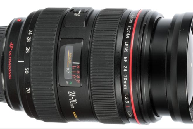 Canon 24-70 f/2.8 USM Lens w/ Focus Gear