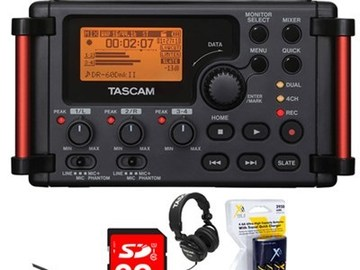 Rent: Field Audio Recorder  comes with external power