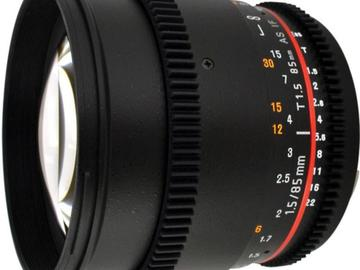 Rent: 85mm Cine Rokinon Prime