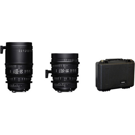 Sigma 18-35mm and 50-100mm T2 Cine Zoom Lenses with Case (Ca