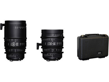 Rent: Sigma 18-35mm and 50-100mm T2 Cine Zoom Lenses with Case (Ca