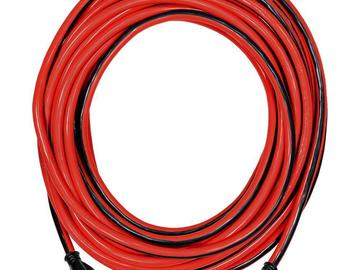 Rent: 50 ft Extension Cord with Standard Plug (Black/Red)