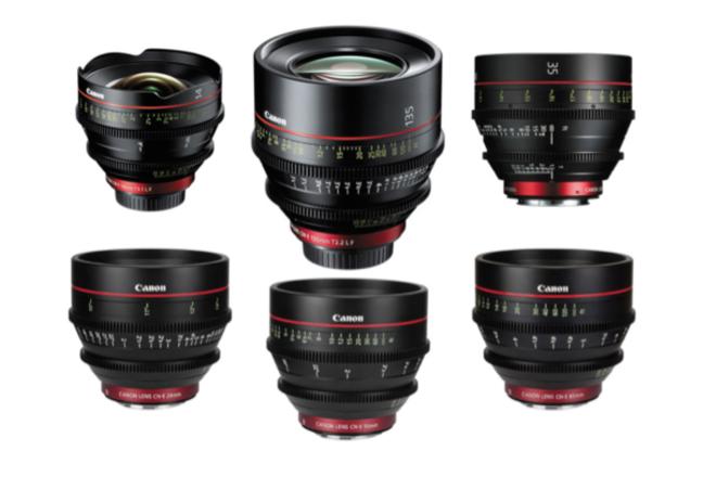 Canon CN-E Cinema Prime Lens Set of 6