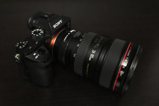 Sony a7S II  w/Metabones Adaptor + 24-105 Canon Lens