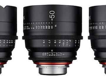 Rent:  XEEN 3-Lens Set / 24mm, 50mm, 85mm  f/1/5 Primes