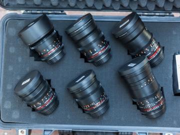 Rent: Rokinon Cine DS Lens Set with cordvision 80mm OD caps