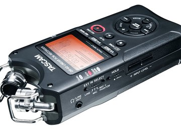 Rent: TASCAM DR40 Sound Recorder Kit, 4-Track Portable >= Zoom H4N