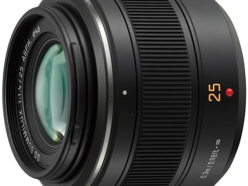 Rent: Panasonic Leica DG Summilux 25mm f/1.4 ASPH Micro Lens