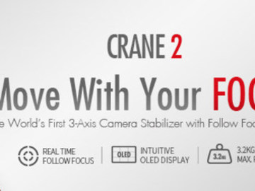 Rent: Zhiyun Crane 2 (New Release) w Monitor