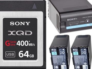 Rent: FS7 Media and Power (1x 64GB Card, 3x BP-U60 Batteries)