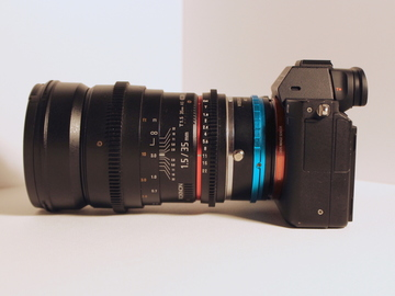 Sony a7s II with 35mm Cine Lens and ND Throttle Adapter