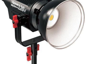 Rent: Aputure LS C120d Dimmable LED w/V-mount batteries + Soft Box