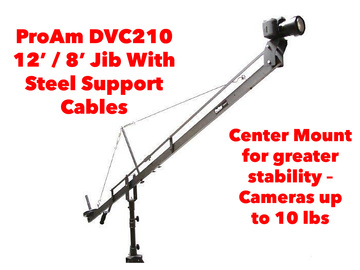 Rent: ProAm Orion DVC210 12'/8' Jib w/ Stand, Steel Support Cables