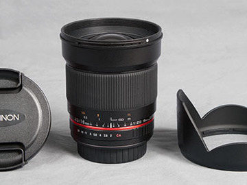 Rokinon 16mm f/2.0 Lens for Canon EF Mount