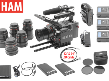 Rent: RED Scarlet MX 4K | 6-Rokinon Cine-DS Lens Set | 2x 128GB