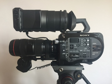 Sony FS7 Kit - Batteries, Cards, EF Adapter