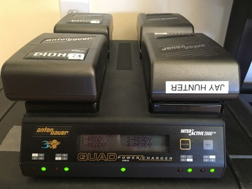 Rent: 4 Dionic 90 Anton Bauer Batteries w/ Quad Charger