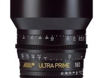 Rent: ARRI/ Zeiss Ultra Prime 180mm T1.9