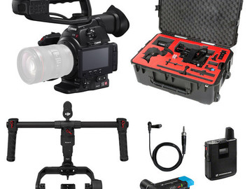 Rent: Canon C100 Mark ii Camera Package ( w/ Ronin M / Lav / Boom)