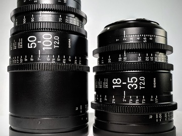 Rent: Sigma CINE ZOOMS 18-35 + 50-100 EF-Mount T2.0