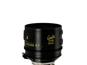 Rent: Cooke 25mm S4/i 2.0 Prime Lens