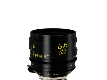 Rent: Cooke 27mm S4/i 2.0 Prime Lens