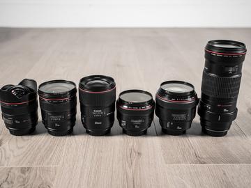 Rent: Canon EF 6 Prime Lenses Set