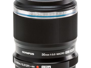 Rent:  Olympus 30mm f/3.5 Macro MFT Lens