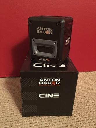7 x Anton Bauer Cine 90 Gold-Mount Batteries + Quad Charger
