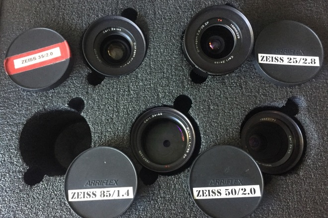Zeiss Distagon Lens Set 25, 35, 50 macro, 85 with CineMod